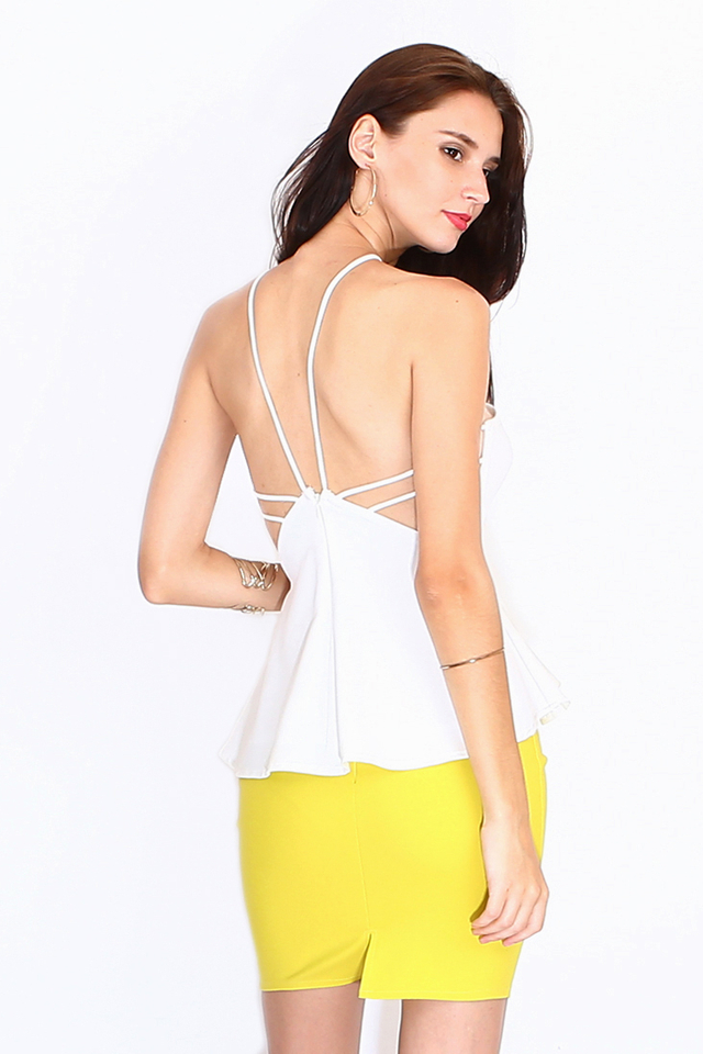 Korsa Strap Back Top - White