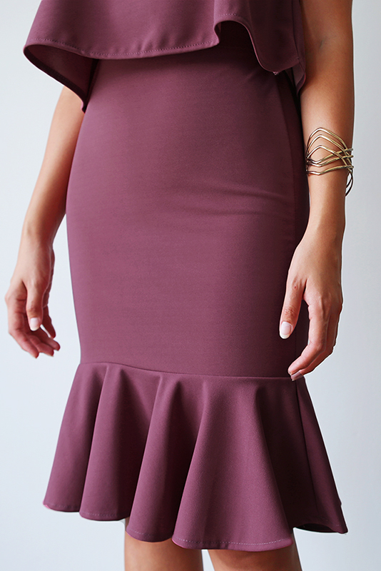 (Backorder) Bev Two-Piece Work Dress - Mulberry