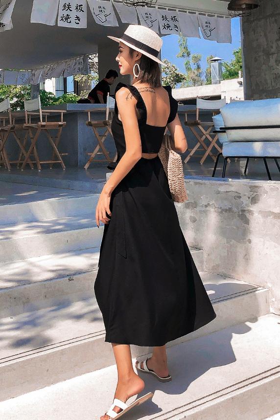 Kayde Ruffled Wrap Dress