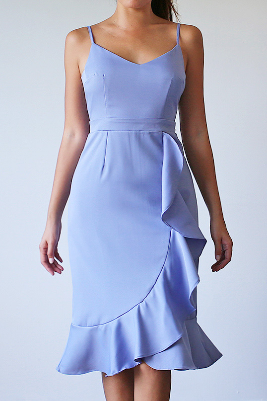 Verina Frill Dress - Periwinkle